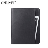 PU Leather Manager Folder With 6000 MAh Power Bank Portfolio Multifunction Document Holder Office Accessories Business