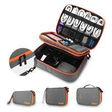 Bolsa para viagem, sacola multi-funcional para armazenamento de carregador fone de ouvido cabo de dados disco u e cabo usb organizador,