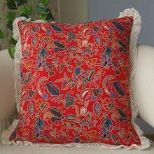 Ethnic style printing decorative pillow / linen cotton sofa cushion / car pillow home hotel cafe decoration pillowcase цена 2017
