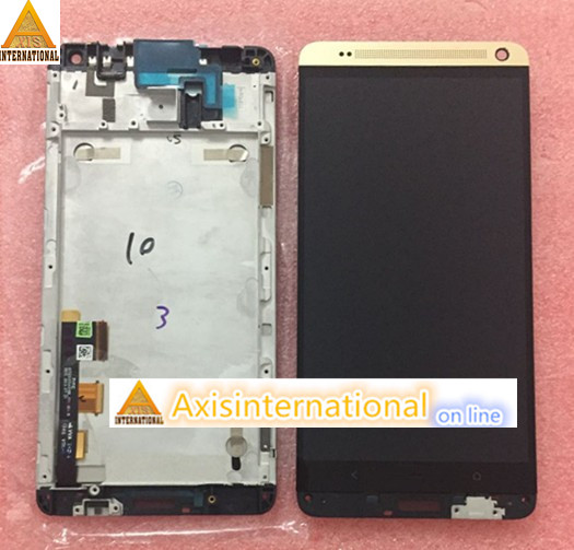LCD screen display+ touch panel digitizer with frame For HTC One Max black/gold/silver color free shipping original lcd screen display touch panel digitizer with frame for blackberry classic q20 black free shipping