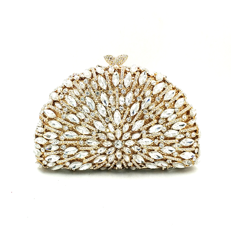 New women evening party handbag diamonds elegant purses luxury clutch bridal wedding party small wallet crystal