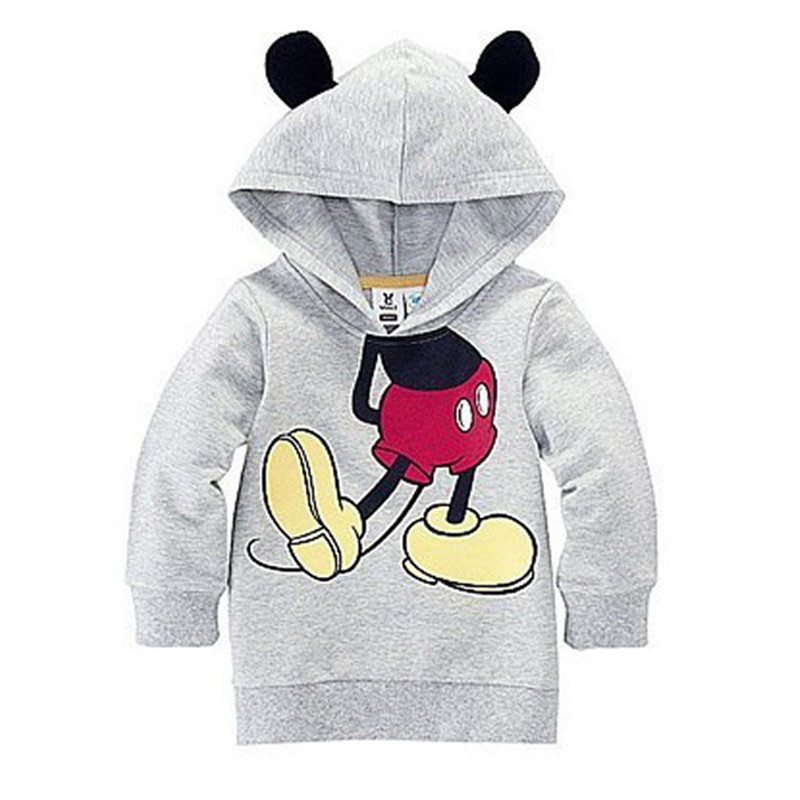 Classic Cartoon Little Mouse Hoodies Long Sleeve Casual Cotton Autumn Sweatshirts Cute Gifts For Children