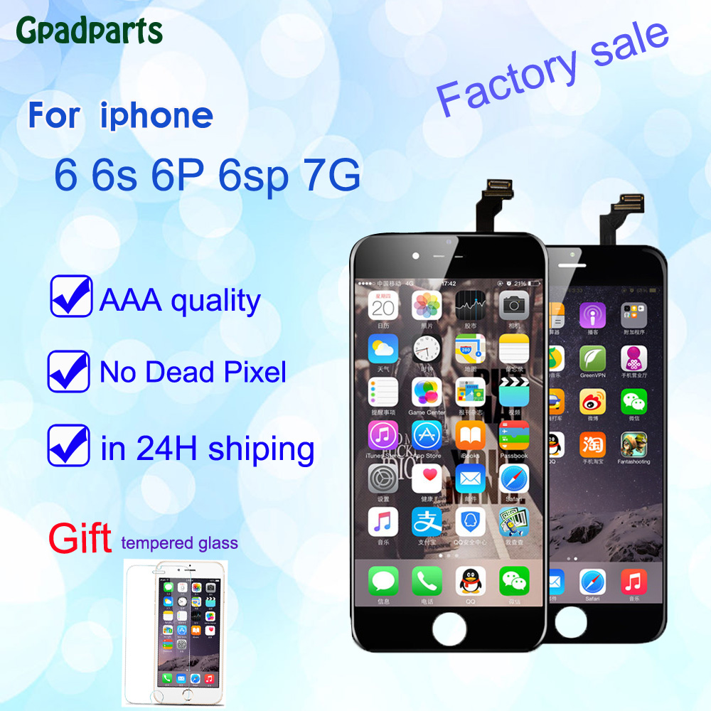 AAA + Replacement l lcd Screen For iPhone 6 6 plus Display iPhone 6S LCD iPhone 6sp 7G Touch Screen 3D Digitizer full assembly iphone