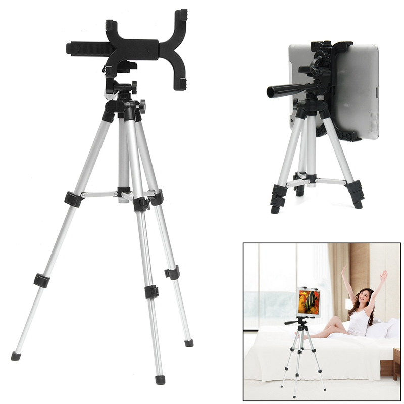 New Adjustable Tablet Tripod Stand Holder For iPad Universal Tablet Holder Mount Stand For iPad Flexible Camera Tripod holder high quality abs self stick tripod mount stand holder tablet mount holder bracket clip accessories for 7 11 tablet for ipad