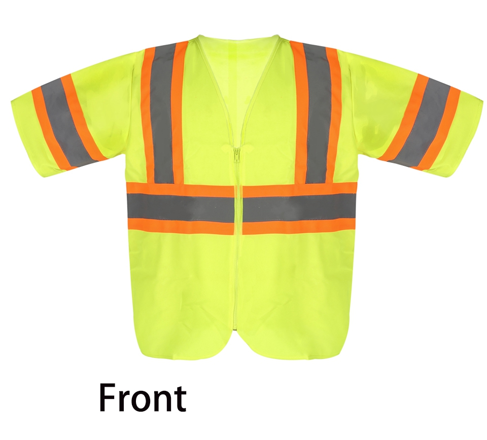 цены High Quality Safety Clothing Reflective Workwear Mens Vest Waistcoat Large Size Knitted Fabric