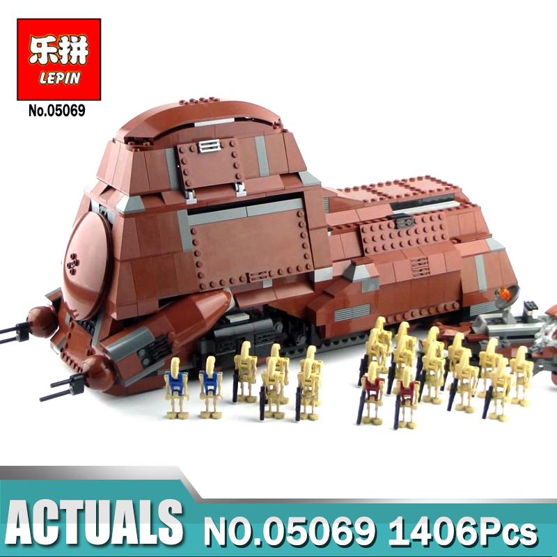 Lepin 05069 Star-War Series The Federation Transportation Tank Set MTT Children Building Blocks Bricks Compatible Legoing 7662 new lepin 16009 1151pcs queen anne s revenge pirates of the caribbean building blocks set compatible legoed with 4195 children
