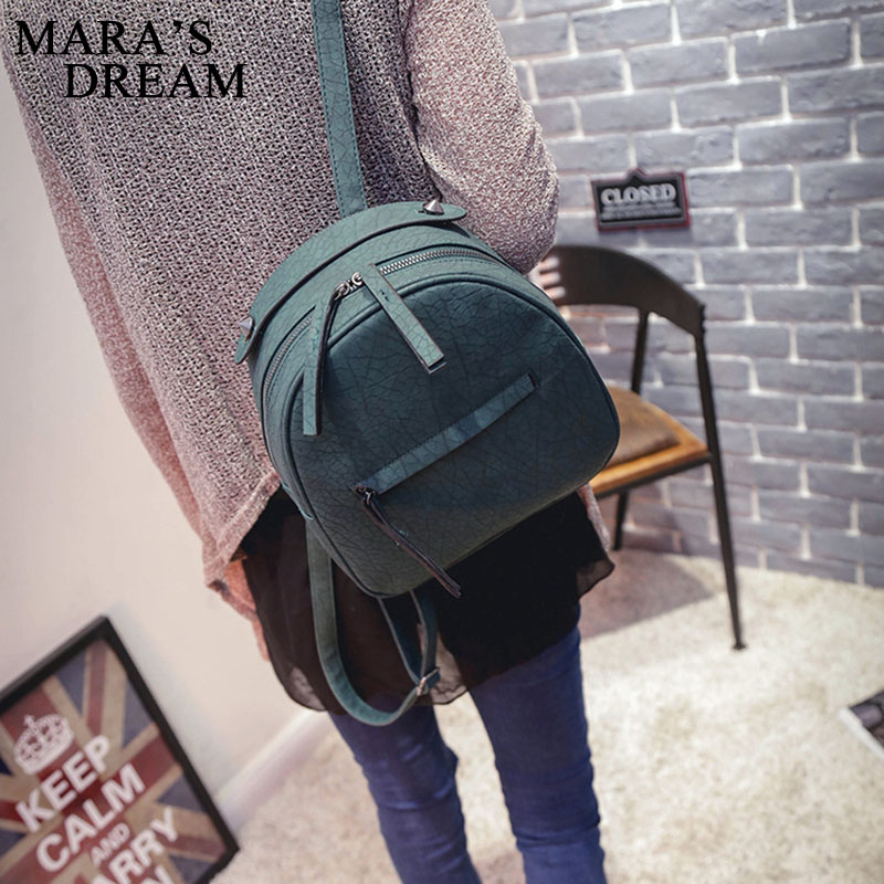 pu bolsa de couro para Women Backpack Bags Main Material : PU Leather+ Polyester Women Candy Color Backpack Bag