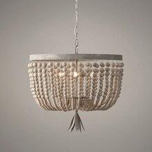 Holz/perlen kronleuchter retro/vintage/industrie/französisch kronleuchter licht armaturen für wohn /esszimmer einkaufen mall küche