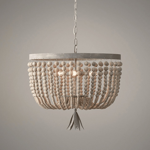 wooden/beaded chandelier retro/vintage/industrial/french chandelier light fittings for living/dining room shopping mall kitchen