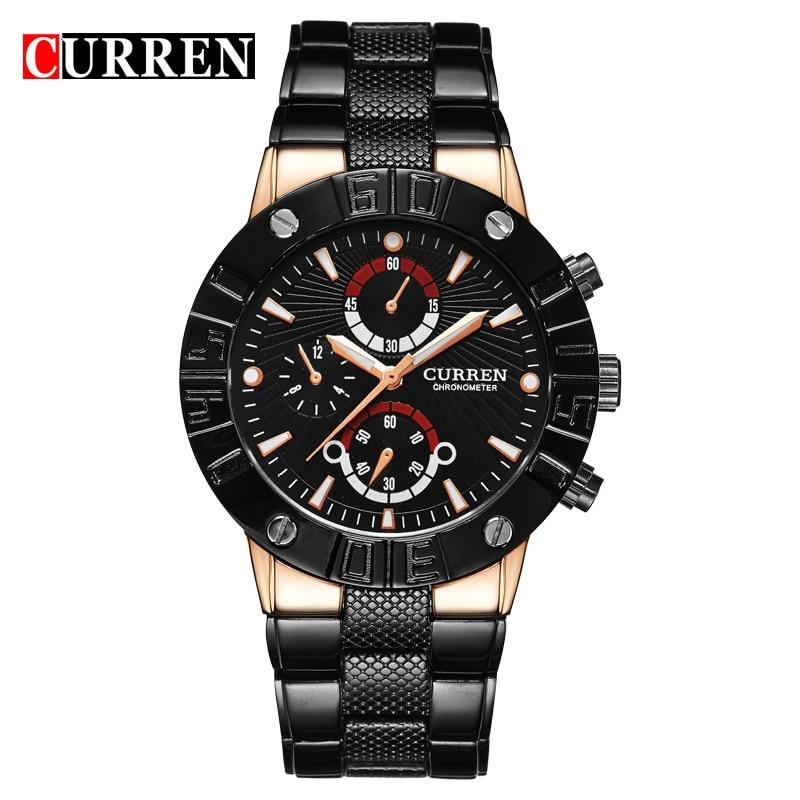 CURREN Men Watches Top Brand Luxury Men Military Wrist Watches Full Steel Men Sports Watch Waterproof Relogio Masculino 8006