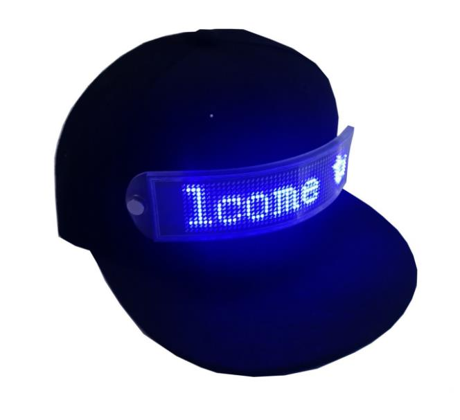 Led cap flexible display flash led advertising cap go word rolling lamp board light gift go games word search