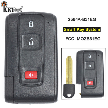 KEYECU 312MHz MOZB31EG 2584A-B31EG Replacement 2+1 3 Button Smart Remote Key Fob for Toyota Prius 2004 2005 2006 2007 2008 2009