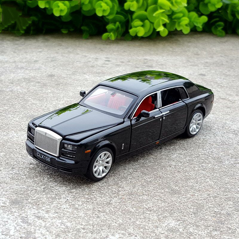 1:36 Free Shipping Rolls-Royce Diecast Alloy Car Model Electronic Sound & Light Pull Back Toy Cars Birthday Gift