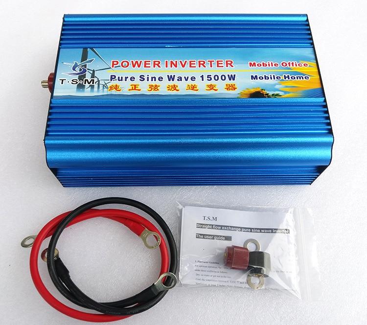 1500W Off Grid 24V to 220V Pure Sine Wave Solar Inverter DC to AC Converter Power Supply 12V/48V to 120V/240V