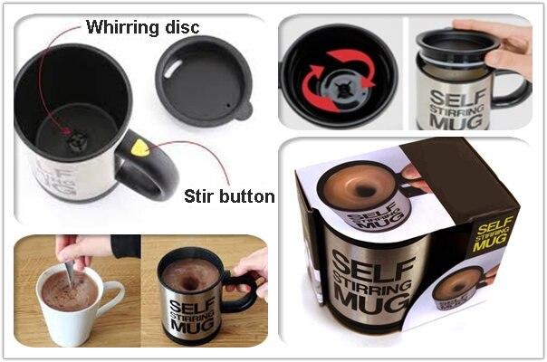 HTB1ZcJCbDMG5uJjSZFAq6zmspXab 6 Colors 400ML Self Stirring Mug Automatic Electric Blenders Stainless Steel Coffee Makers Milk Tea Milk Mixing Drinking Cups