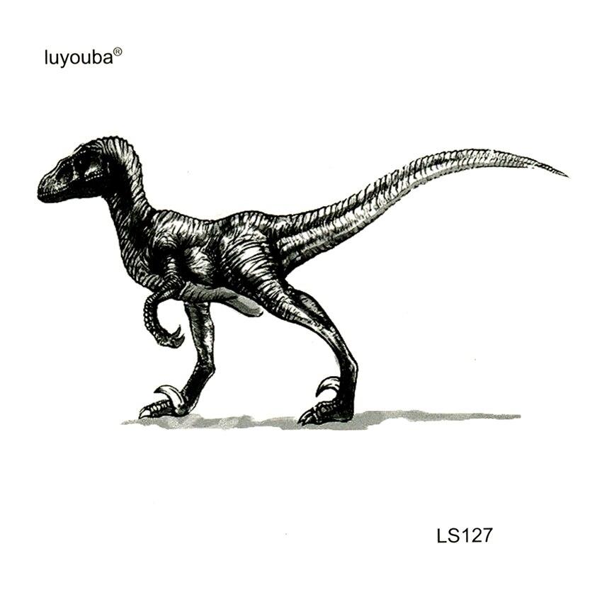 Dinosaur Tyrannosaurus Rex  Waterproof Temporary Tattoos Men Harajuku Tatoo Sticker Faux Tatouage Temporaire Femme Kids Tattoo