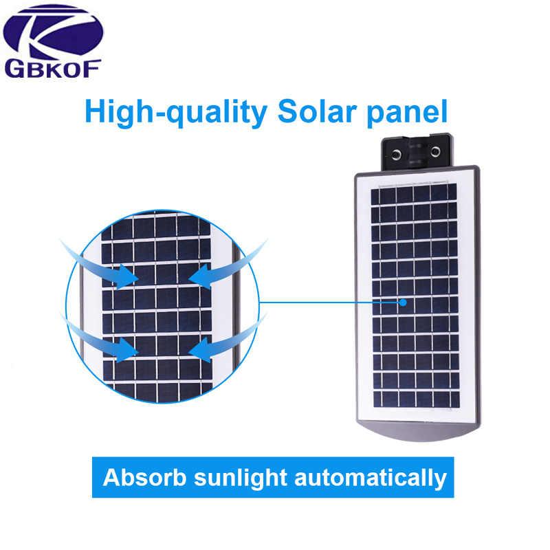 GBKOF уличный датчик движения на солнечных батареях Светодиодный светильник на мачте настенный уличная дорожка солнечный свет для сада 3 режима работы Солнечная лампа 20 Вт 40 Вт 60 Вт