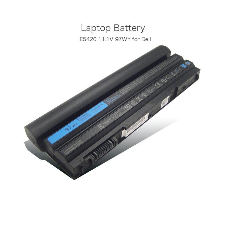 11.1V 97Wh 8700mAh Long Life Laptop Battery for Dell Latitude E5420 E5420m E5520 E5530 E6430 E6520 E5430 E5520m E6420 E6440 60wh 11 1v laptop battery for dell latitude e5420 e5520 e6420 e6520 t54fj laptop