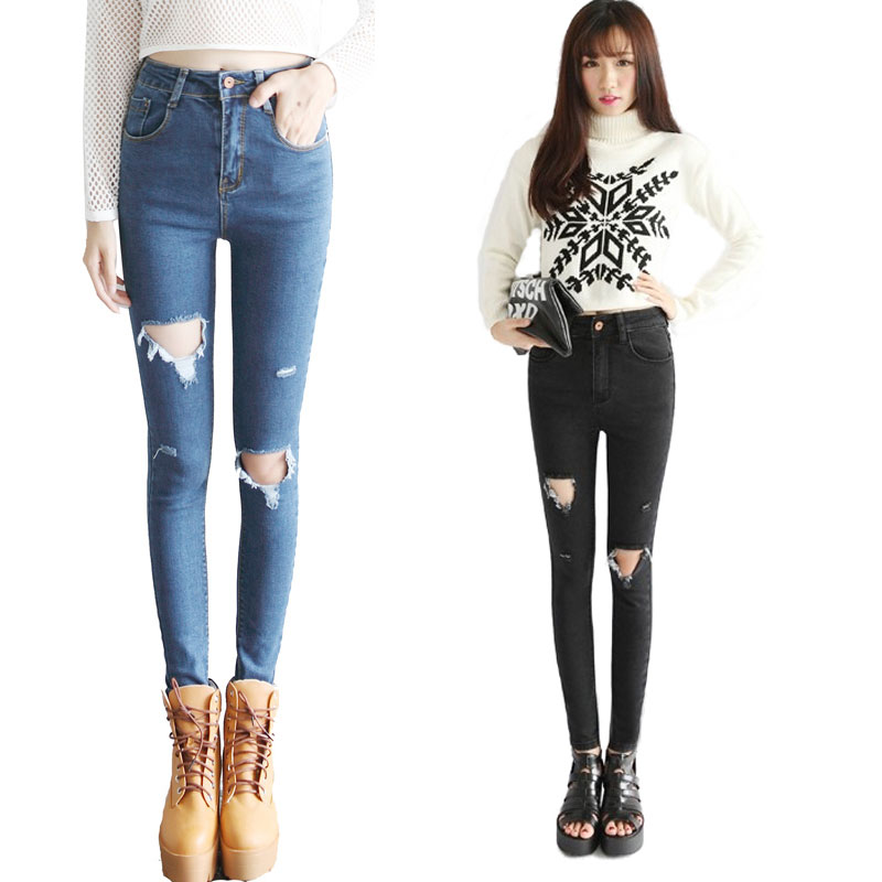 Compare Prices on High Waisted Ripped Jeans- Online Shopping/Buy ...