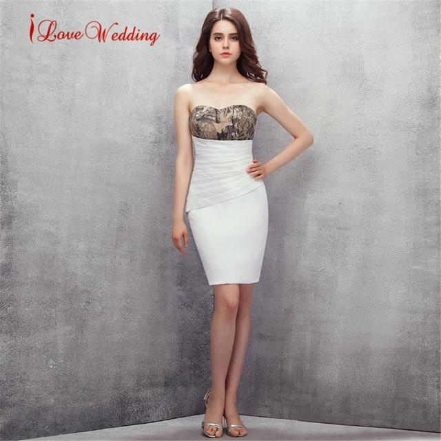 Modas de vestidos strapless cortos