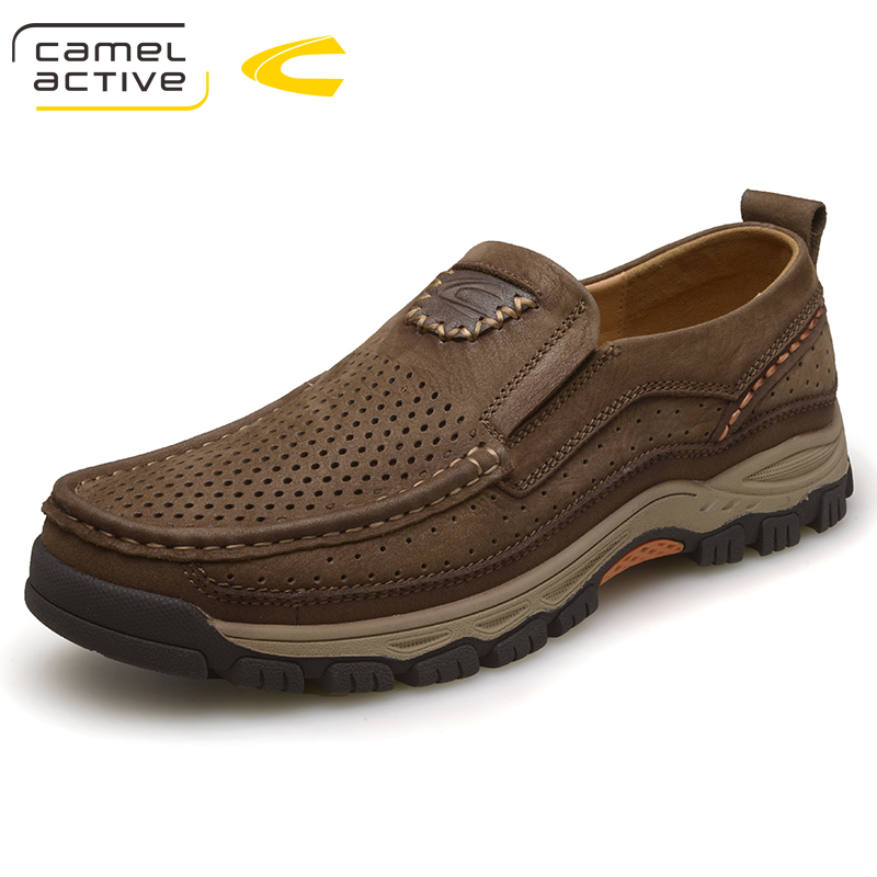Camel Active Outdoor Casual Shoes Mens Genuine Leather Dress Shoes Autumn Spring Walking Shoes for Men Leather Oxfords Male Flat top quality genuine leather oxfords for women gold sliver mixed colors female british style spring autumn casual flat shoes