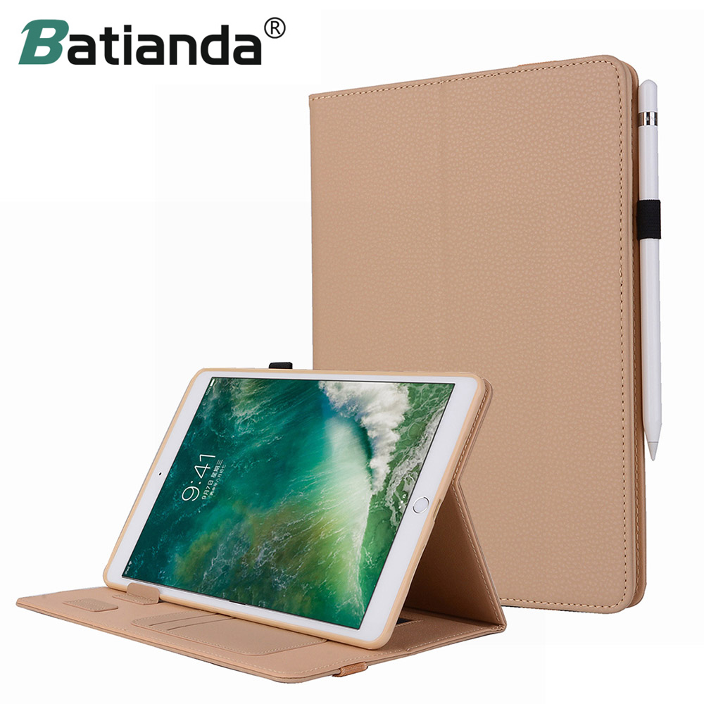 "Batianda for iPad Pro 10.5""Premium Leather Case Stand Cover with Pencil Holder & Hand Strap for Apple iPad Pro 10.5 2017 Release"