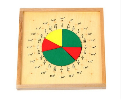 Montessori toy store Math Teaching Aids Baby Wooden Toys Kid Early Learning Education Circle Scoreboard Supplier - education wooden world
