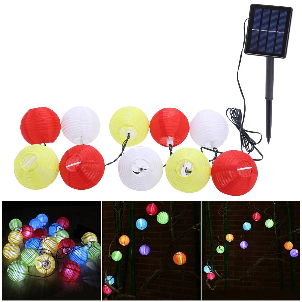 Solar Power Lantern Ball String Lights 30 LED Solar Lamp Outdoor String Fairy Lighting Globe Christmas Party Holiday Decoration