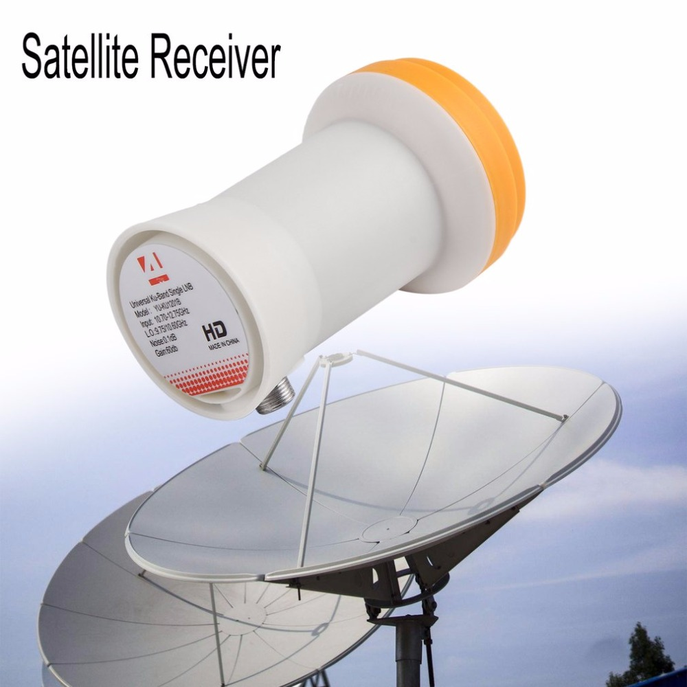 Universal Ku-Band Single LNBF Satellite Receiver 9.75/10.6KU Dual Output Full HD Digital KU LNB High Band Low Band