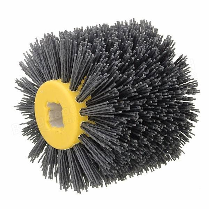 Wire Drawing Wheel Brush Drum Burnishing Polishing Wheel 80/120/240 Grit 800mm long 600mm pitch upscale polishing and wire drawing process 100