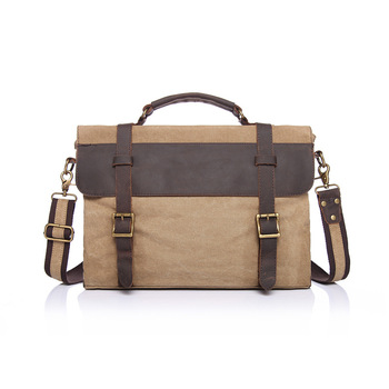 YUPINXUAN Men's Messenger Bags Canvas Shoulder Bag Handbag Crazy Horse Leather Briefcase Retro Office Bag Handmade Bags Male
