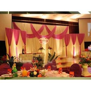 Image 5 - Draperies en soie, 1 Set, rideau de scène, avec perles, glace, voile coque à bricoler soi même, décoration pour fête de mariage, Banquet, offre spéciale