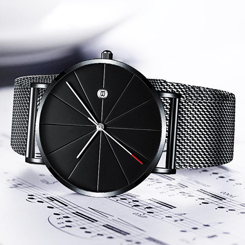 Stainless Steel Quartz Wristwatches Fashion Gold Men Watches Ultra-thin Watches Classic Quartz Date Casual Mesh Belt Wristwatch HTB1ZcLRd8OD3KVjSZFFq6An9pXaG