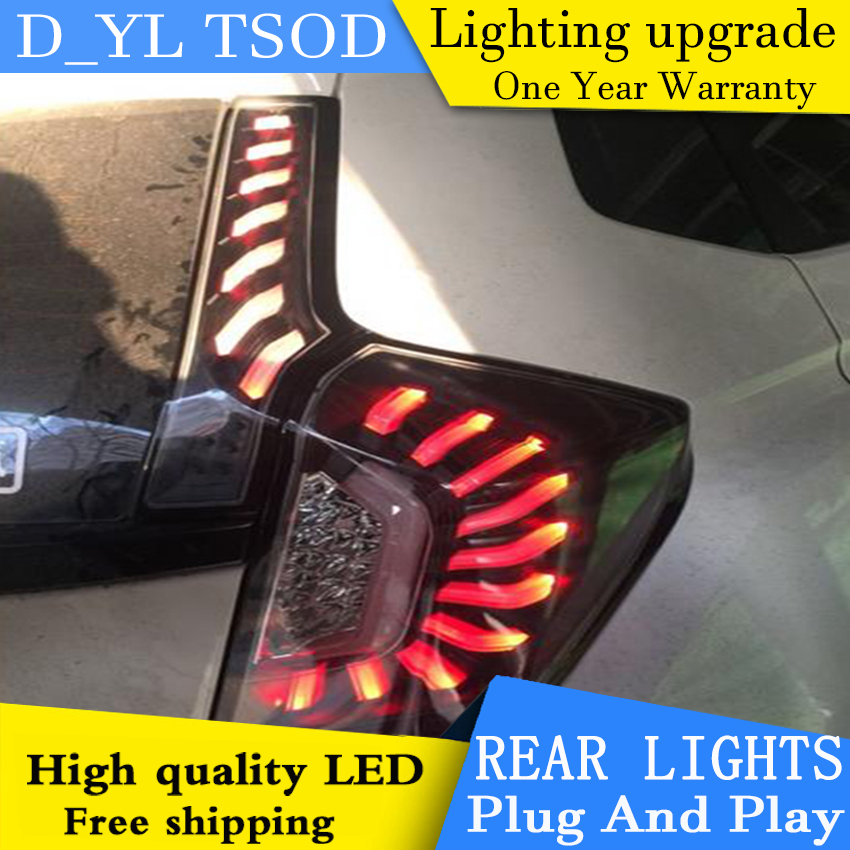 D YL автомобильный Стайлинг для Honda Fit задние фонари 2014 2015 Honda Fit задний фонарь Altis задний фонарь DRL + тормоз + Парк + сигнал