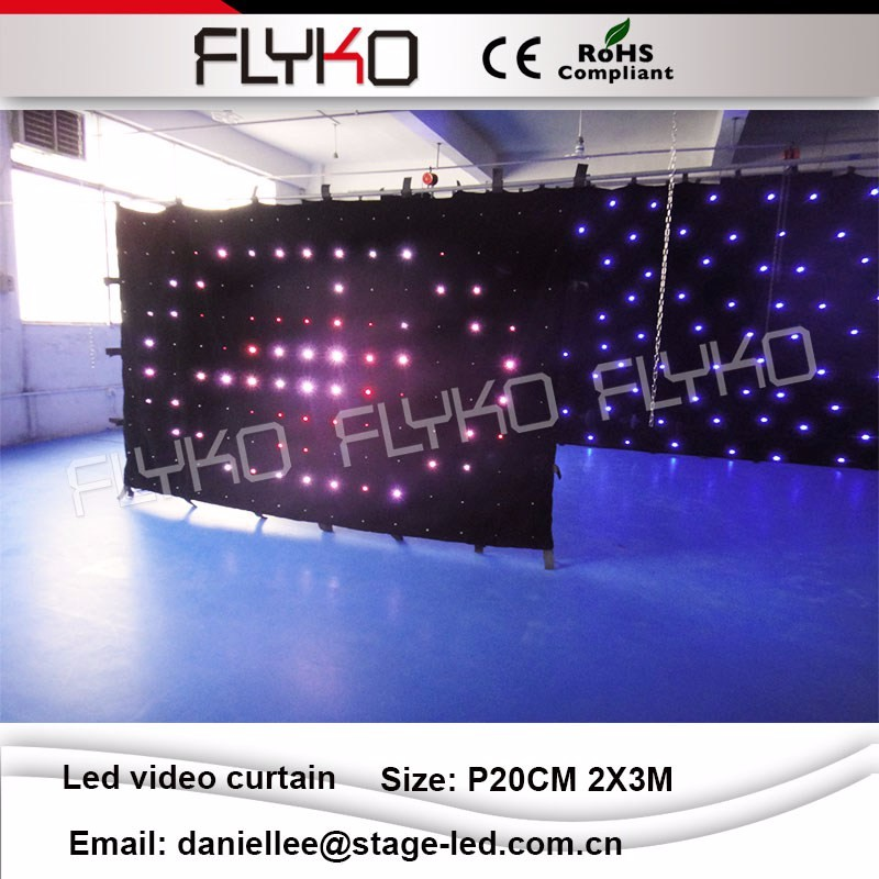 LED video curtain 54