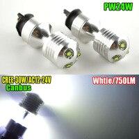 Paire PW24W 30 W Feux de jour Led Brouillard Ampoule De Rechange pour VW Golf MK7 Golf7 De Golf VII (2013-up avec xenon phare seulement)