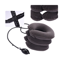 Cervical Neck Traction Pillow, Home cervical traction, thick PVC liner, three tube inflatable Neck Massage