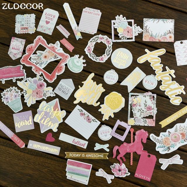 ZLDECOR 40 unids Colorido Cartulina Planificador de Troqueles para Scrapbooking Feliz/de la Tarjeta/Diario Proyecto DIY