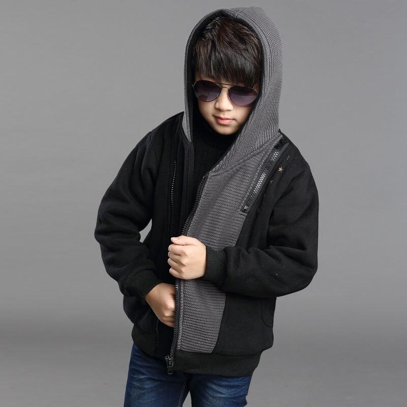 2018New Children Outerwear Warm Coat Kids Clothes Double deck Waterproof Windproof Thicken Boys Girls Jackets Autumn and Winter in Hoodies Sweatshirts from Mother Kids