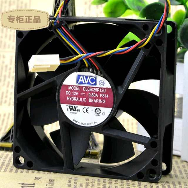 US $3 99 |AVC DL08025R12U 8cm Fan 12V 0 5A PWM Hydraulic Bearing-in Fans &  Cooling from Computer & Office on Aliexpress com | Alibaba Group