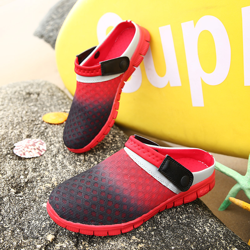 2018 Summer Slippers Men Hollow Out Breathable Beach Flip Flops Unisex Casual Slip-on Flats Sandals Men Shoes zapatos