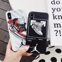 18c0661d52cb40 Sports Brand flying Man Air Jordan Name off Ow Suprem Phone Case For iphone  6 7