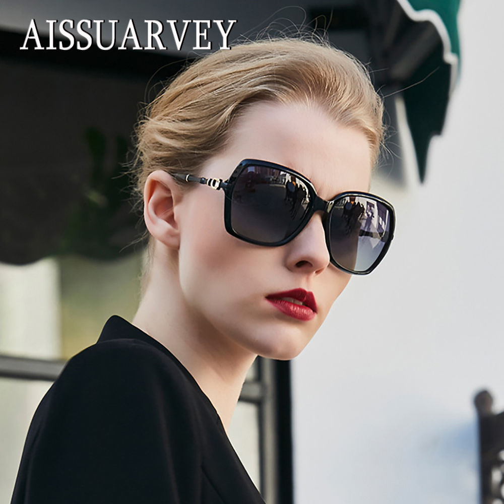 2019 New Oversize Mirror Acetate Fashion Polarized Sunglasses for Woman Top Quality Lady Brand Design Square