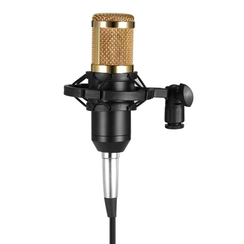 Bm800 Condenser Microphone Studio Sound Recording Broadcasting With Shock Mount 3.5Mm Audio Cable Sponge Microphone(China)