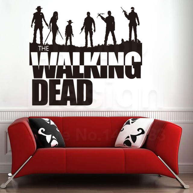 Art new design house decor vinyl the walking dead wall decals removable pvc home decoration colorful