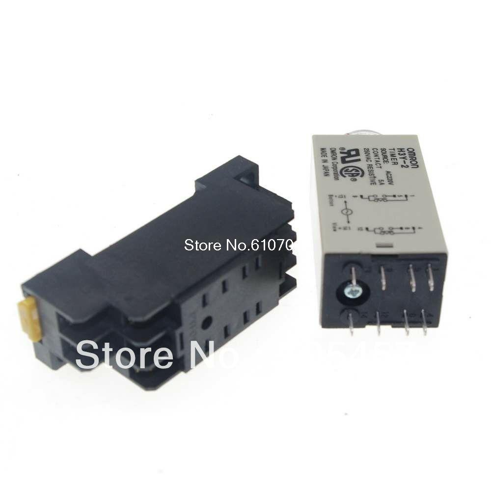 1pcs 12vdc 24vdc 24vac 110vac 220vac H3y 2 Power On Time Delay Relay 10 Minute Timer Circuit Dpdt 8 Pins Socket 5a In Relays From Home Improvement