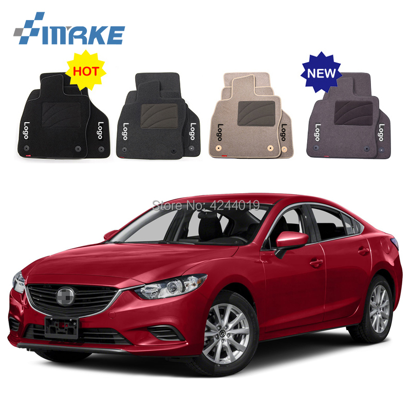 For Mazda 6 Car Floor Mats Front Rear Carpet Complete Set Liner All Weather Waterproof Customized Car Styling for honda fit car floor mats front rear carpet complete set liner all weather waterproof customized car styling