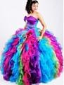 Novo Colorido vestido de Baile Vestidos Quinceanera 2016 Com Cristal Vestidos de 15 Anos Doce 16 Vestidos Vestido para 15 Anos B14