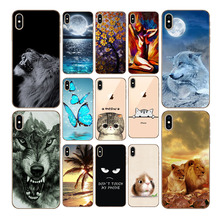 hot deal buy for coque iphone xr cartoon silicone phone case for iphone xs max xr for case iphone x xs xr xs max painted casescase on hayon x