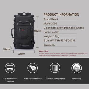 Image 2 - Kaka mochila de laptop impermeável de 40 l, mochila multifuncional de alta capacidade para viagem, escola, caminhadas